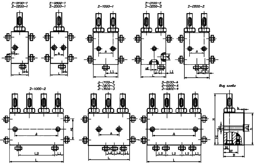Габаритные и присоединительные размеры питателей двухлинейных присоединение коническая резьба